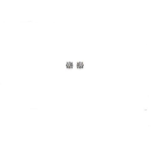 cristal BLEU clair,3mm,plaqué or 750//000 garanti Boucles d/'oreilles puces