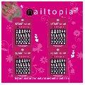 Retail Support pour nail art avec 12 paquets de stickers ongles nailtopia