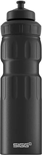 SIGG WMB Sports Black Touch Sport Trinkflasche, (0,75 L), schadstofffreie und auslaufsichere Trinkflasche, federleichte Trinkflasche aus Aluminium