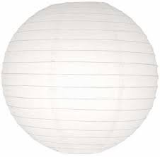White Round Paper Lamp 12 inches