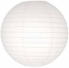 White Round Paper Lamp 12 inches