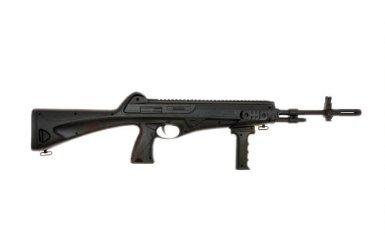 Nick and Ben Softair-Gewehr Maschinengewehr schwarz unter 0,5 Joule ab 14 Jahre 6 mm BB Federdruck Einzelschuss ABS ca. 80,0cm ca. 600 g inkl. Tragegurt Kinder-Gewehr Spielzeug-Gewehr Air-Soft (Bb-gewehr M 16)