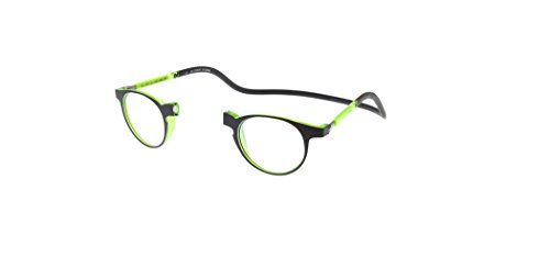 Nueva Montura Slastik para Gafas de Lectura Magnética Estilo Clic Soho 004 Estuche Blando Graduación, Varilla elástica & Lentes antirreflejantes Dioptría+1.5