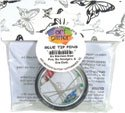 Art Glitter Glue Tip Pins-Six Stainless Steel Pins, Six Noodgers -