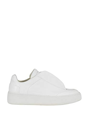 MAISON MARGIELA Slip On Sneakers Uomo S57ws0187sy0984101 Pelle Bianco