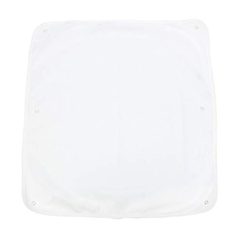 TupTam Frottee Ersatzbezug für Wickelauflage - Druckknöpfe, Farbe: Weiß, Größe: 55x60 cm