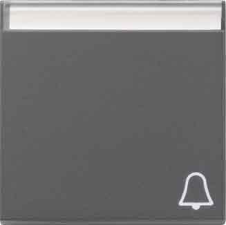Gira 067328 Wippe Symbol Klingel Beschriftungsfeld System 55 , anthrazit (Klingel Symbol)