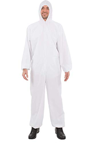 Unisex Erwachsene Weiße Hazmat für Chemische Forensische Kostüm