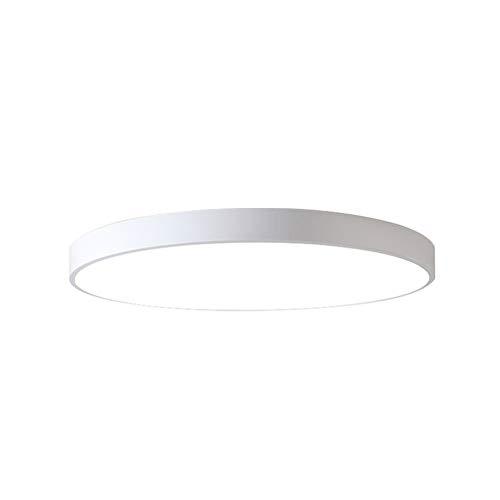 Ccsun lampada plafoniera montaggio a incasso, led modren tonda acrilico lampada plafoniera fixture per camera da letto salone-d:50cm(19.7 in)-bianco 30w luce bicolore