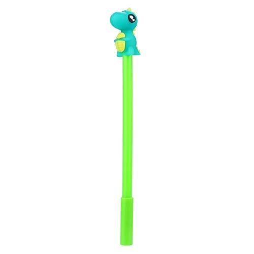 Schule Bürobedarf,gaddrt Kugelschreiber Gel Stift Büro-Schule-niedlicher Dinosaurier-Monster-Entwurf Schreibfeder Geschenk (Grün) Metallic-stich