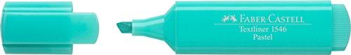 Faber-Castell 154659-Scatola con 10Evidenziatori Textliner 1546Pastello, Colore: Blu Acqua