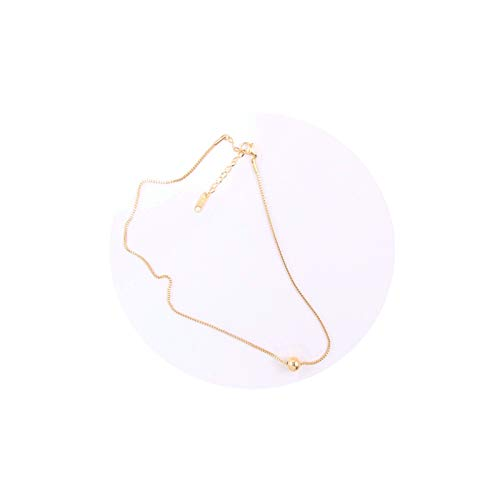 AmDxD Claviclekette Edelstahl Gold Rund Kugel Choker Damenkette Damen Halskette
