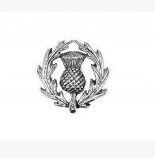 Dans une boîte cadeau en étain Chardon écossais Badge Pin Broche ou cadeau pour Cravate, Foulard, chapeau, manteau ou sac