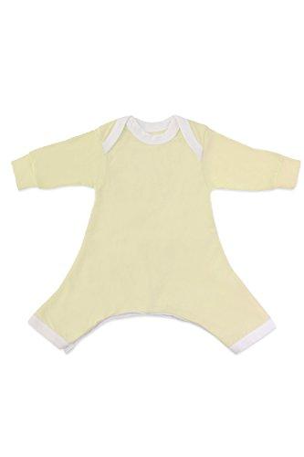 Hip-Pose Baby-Strampler / Strampelanzug mit langen Ärmeln für Spreizhose und Gipshosen für Babys 6 - 12 Monate, gelb
