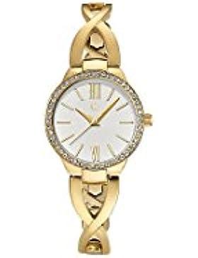 C-Collection by CHRIST Damen-Armbanduhr Analog Quarz One Size, silberfarben, gold