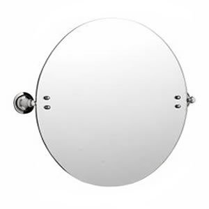 New Large Chrome Wall Mounted Round Bathroom Swivel Vanity Or Shaving Mirror