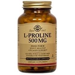 Solgar L-Prolina Aminoácido - 100 Cápsulas