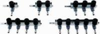 AquaForte Luftverteiler 9 mm, 4 Ausgänge mit Hahn, Grau Vier Hahn