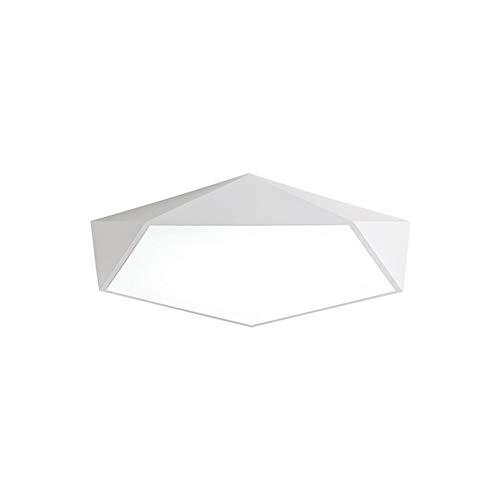 3-licht-acryl (Geometrische LED Deckenleuchte Macaron Weiß Für Wohnzimmer, Schlafzimmer, Flur, Acryl 3 Farbtemperatur Licht 30cm 18W)