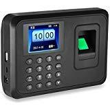 HFeng Máquina biométrica de 2.4 pulgadas para asistencia de huellas dactilares USB Time Card locker software libre 600 usuarios para Office/Home