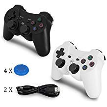 PS3 Controller Kabellos 2 Stück PS3 Spiele Gamepad mit USB-Ladekabel – Dualshock Joystick, Super Power,-Achsen-Fernbedienung für Sony Playstation 3, Billig, Doch DS3 Controller Two
