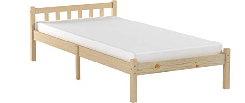 Innovareds Natural Sturdy Pine Solid Wooden Single Bed Frame Original Color