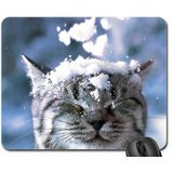 I Hate Snow Mouse Pad, Mousepad (Cats Mouse Pad)