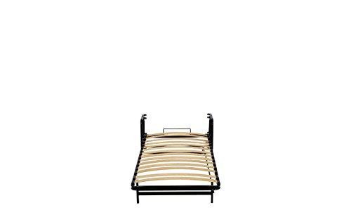 Einzel WANDBETT (Längs) 90cm x 200cm (Klappbett, Schrankbett, Gästebett, Funktionsbett) WALLBEDKING Classic - 6
