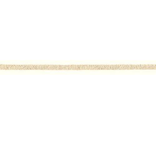 PRYM Thonging Schnur/Tape, Nachahmung Wildleder Leder, Natur/Ecru, 3mm, 3m