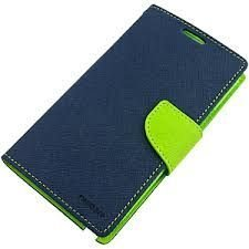 RIE Mercury Flip Cover for Samsung Galaxy Note 1 GT- i9220 N7000 - Blue
