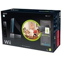 Console Wii noire + Wii Fit Plus + Wii Sports + Wii Balance Board noir + Télécommande Wii Plus noire