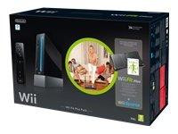 "Nintendo Wii ""Wii Fit Plus Pak"" - Konsole inkl. Wii Sports, Wii Fit Plus, Balance Board + Remote Plus Controller, schwarz"