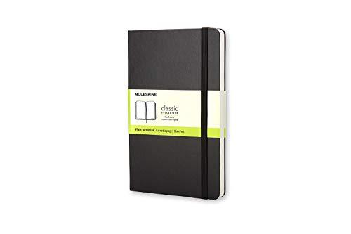Moleskine Notebook Classic Pagina Bianca, Taccuino Copertina Rigida e Chiusura ad Elastico, Colore Nero, Dimensione Pocket 9 x 14 cm, 192 Pagine