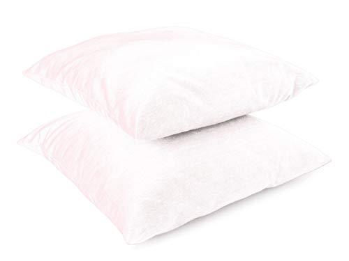Leonado Vicenti Kissenbezug Kissenhüllen 2er Pack Baumwolle Kopfkissenbezug Renforce 50x50 cm Weiß mit Reißverschluss