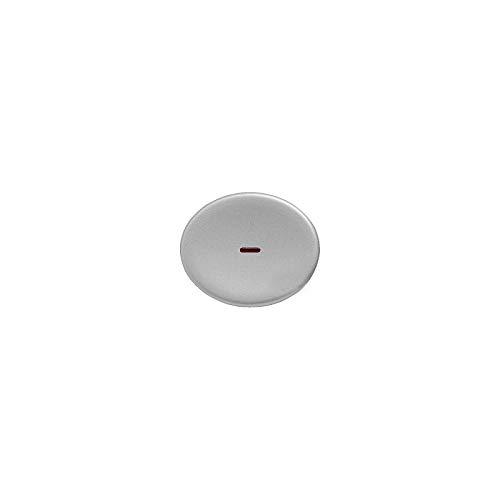 Niessen tacto - Tecla interruptor conmutador con visor tacto plata