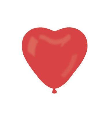 Gemar Globos Novios Corazón Boda Rojos voladores San valentín Paquete de 100Unidades Corazones, Color Rojo, CR