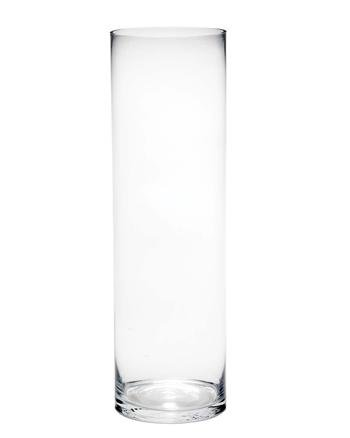 Very Large Clear Glass Vase Floor Standing Tall Classic Cylinder