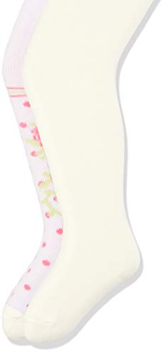 Playshoes Baby-Mädchen elastisch Rosen und Uni mit Komfortbund Strumpfhose, Beige (Original 900), Herstellergröße: 50/56 (per of 2)