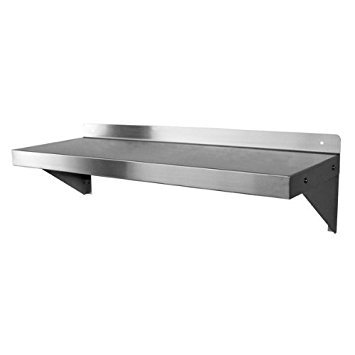 """DuraSteel NSF Approved Stainless Steel Commercial Wall Mount Shelf 12"""" (Deep) x 24"""" (Wide)"""