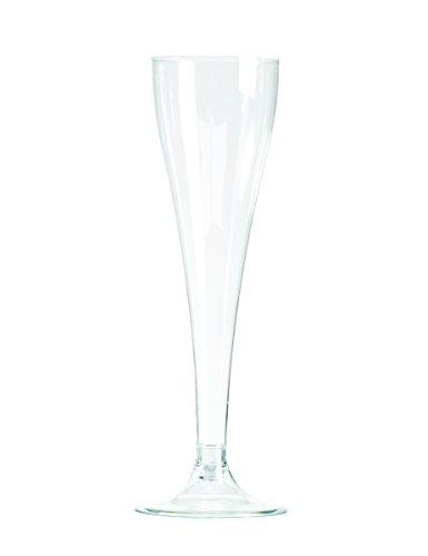 8 Flûtes champagne en plastique transparent 10 cl