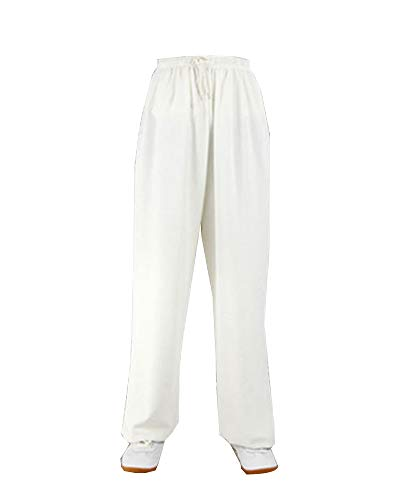 Kampfsporthose Tai Chi Hosen Traditionelle Trainingshosen Taiji Kung Fu Wing Chun Shaolin Klassische Kleidung Unisex Weiß 2XL
