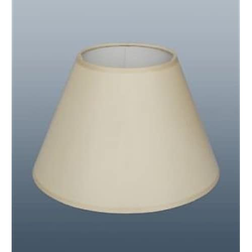 Floor lamp shades only amazon 18 empire coolie lampshade in cream fabric for table or floor lamp mozeypictures Gallery