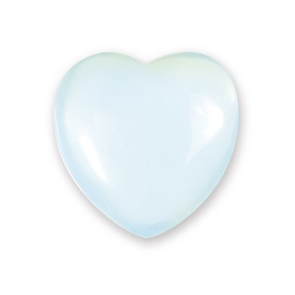 opalite mini Crystal Heart - 2.5 cm