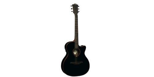 Lag - T100ace blk auditorium guitarra electro acustica cutaway negra
