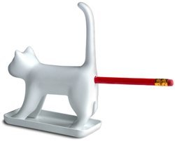 MostroMania Divertente Temperino a Forma di Gatto che Miagola - Miao - Meow - Divertente Temperamatite - Gadget da Ufficio - Soprammobile da Scrivania - Idea Regalo Originale