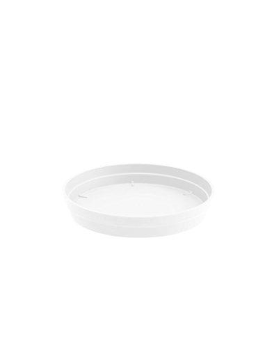 Soucoupe pour Pot rond Toscane blanc Ø 18,5 cm