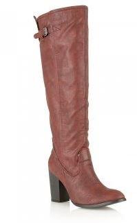 Dolcis Mesdames genou haute talon bloc de coffre dglo 178 Rouge - Bordeaux