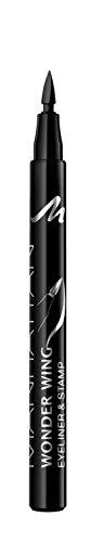 Manhattan Wonder Wing Eyeliner & Stamp, Farbe 001 Black, schwarz, 1.6 ml