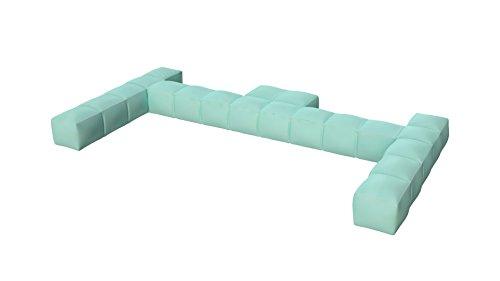 Pigro Felice Modul'Air Dossier Gonflable Double PVC Vert d'eau 234 x 117 x 24 cm