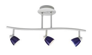 Cal Lighting SL-954-3-WH/BLS Track Lighting with Cobalt Blue Shades, White Finish by Cal